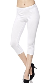 New Kathy White Capri Leggings - Product Mini Image