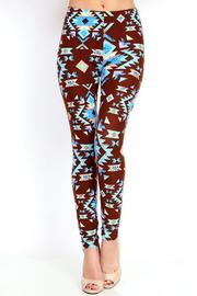 New Mix Aztec Print Leggings - Product Mini Image