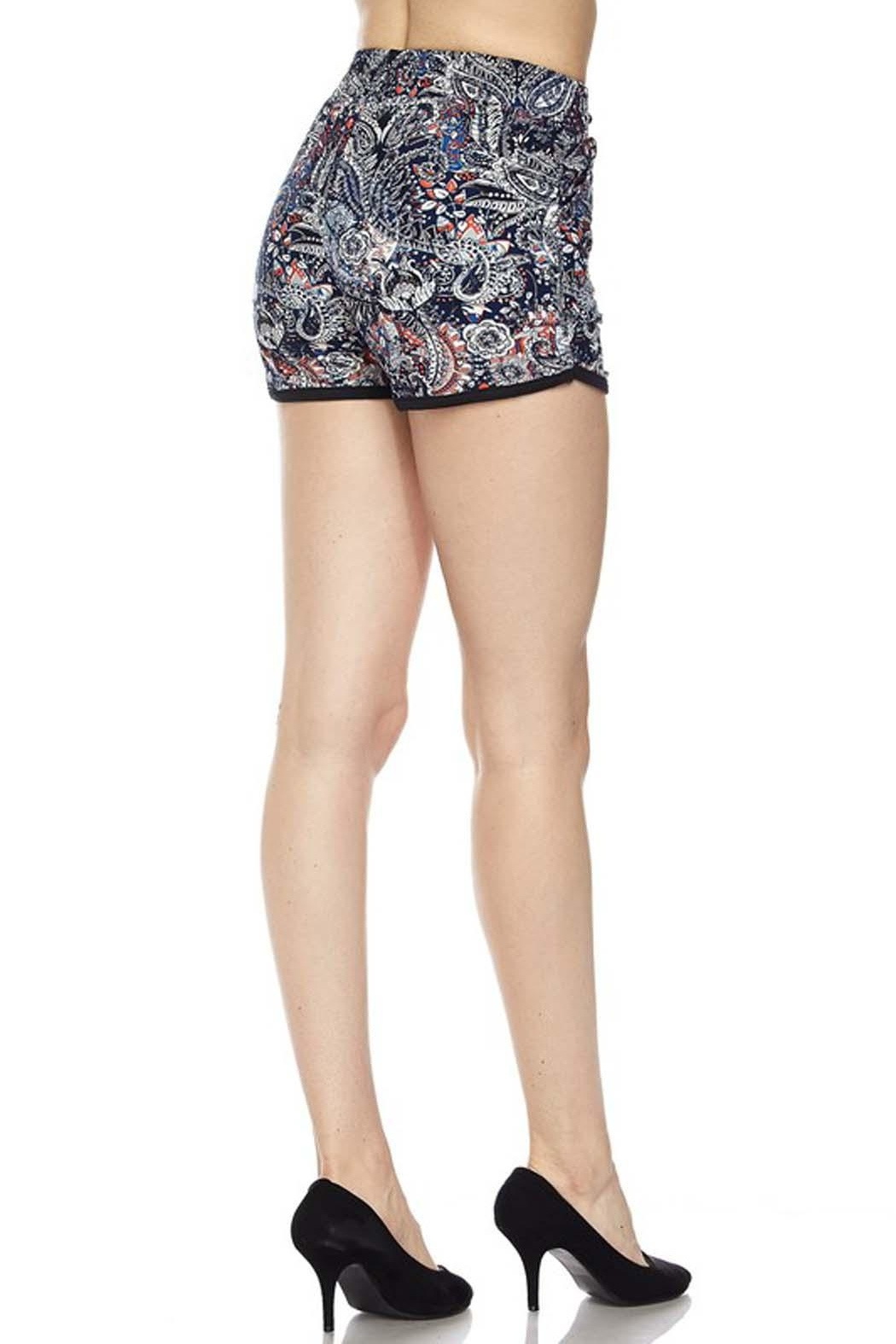 New Mix Baroque Print Legging - Side Cropped Image