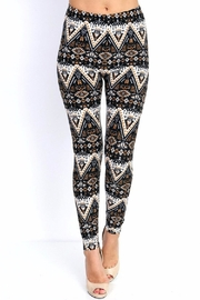 New Mix Black & Gold Prints Leggings - Product Mini Image