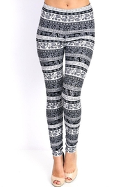 New Mix Black & White Legging - Product Mini Image