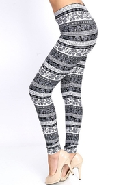 New Mix Black & White Legging - Side cropped