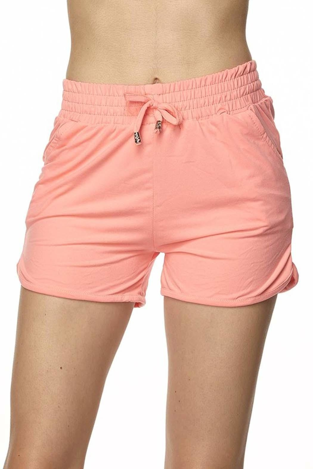 New Mix Brushed Dolphin Shorts - Front Cropped Image