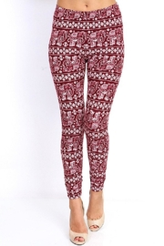New Mix Burgundy Elephant Legging - Product Mini Image