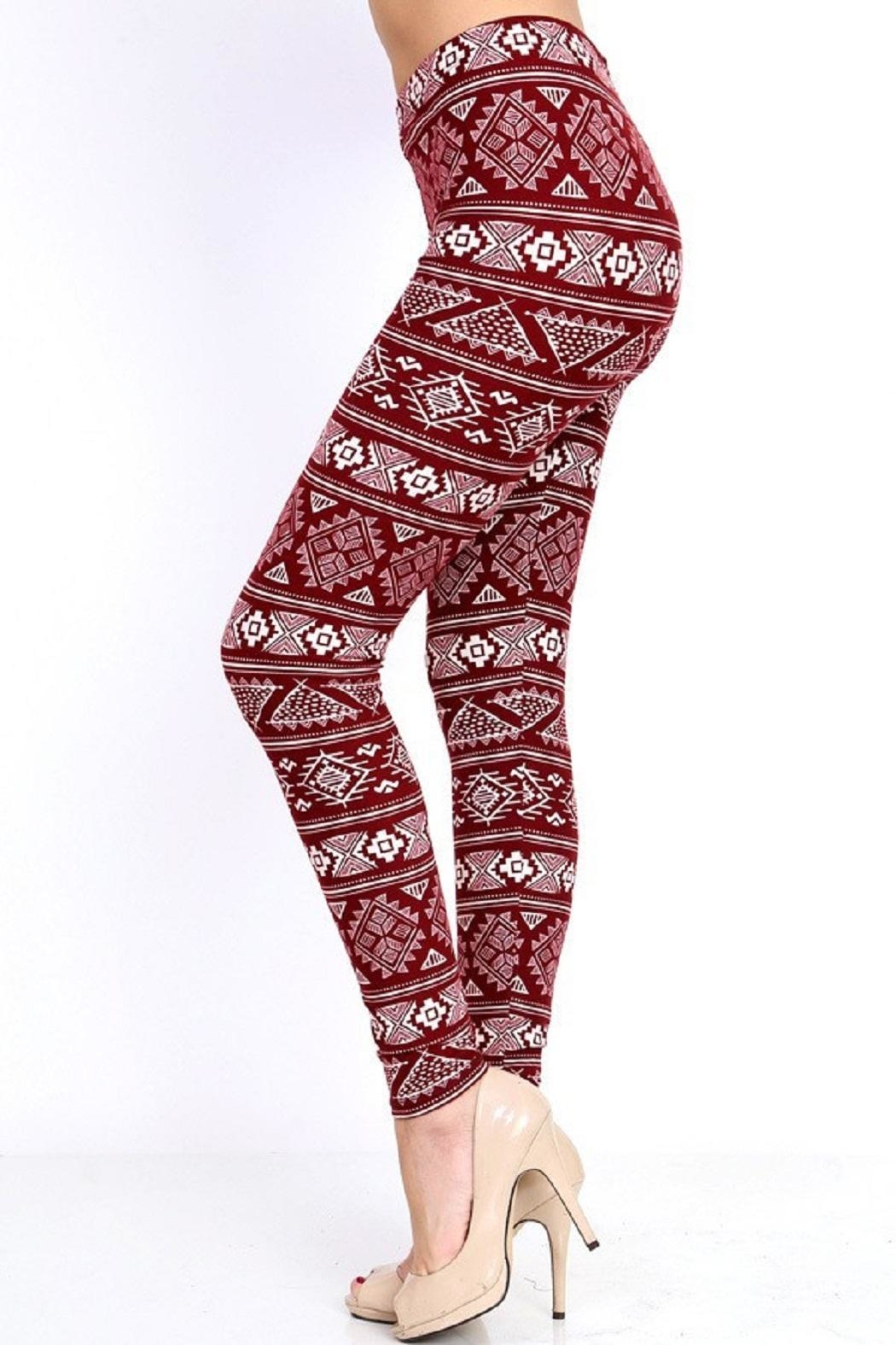 New Mix Burgundy Tribal Print - Front Full Image