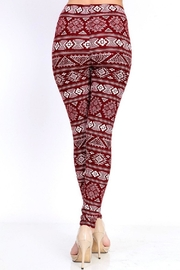 New Mix Burgundy Tribal Print - Side cropped