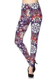 New Mix Circle Print Legging - Product Mini Image