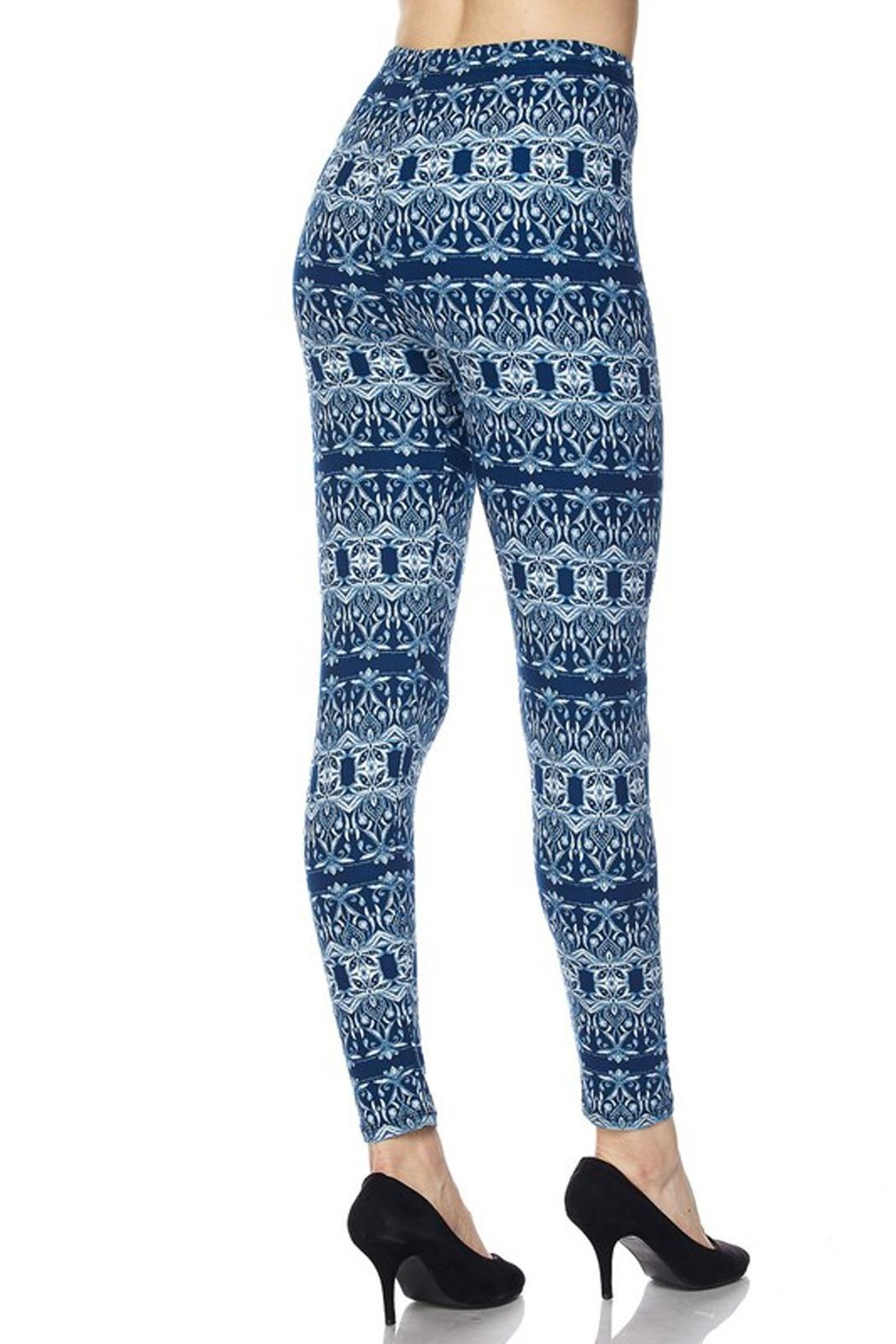 New Mix Cool Blue Legging - Side Cropped Image