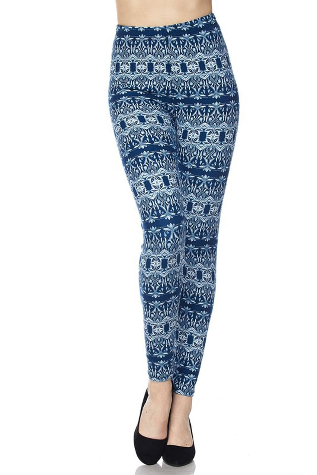 New Mix Cool Blue Legging - Front Full Image