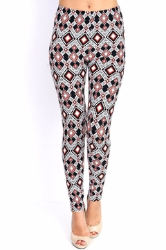 Shoptiques Product: Diamondshape Print Leggings