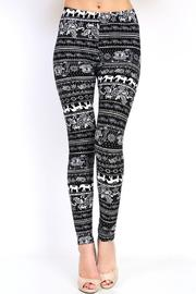 New Mix Elephant Print Leggings - Product Mini Image