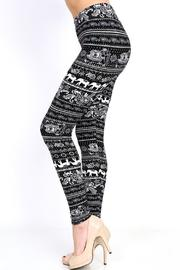 New Mix Elephant Print Leggings - Side cropped