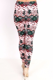 New Mix Ethnic Print Leggings - Back cropped