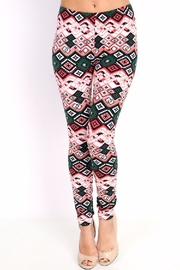 New Mix Ethnic Print Leggings - Front cropped