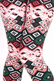 New Mix Ethnic Print Leggings - Side cropped