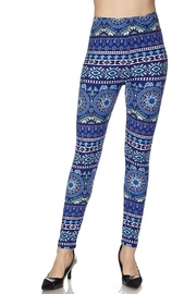 New Mix Floral Aztec Legging - Front cropped