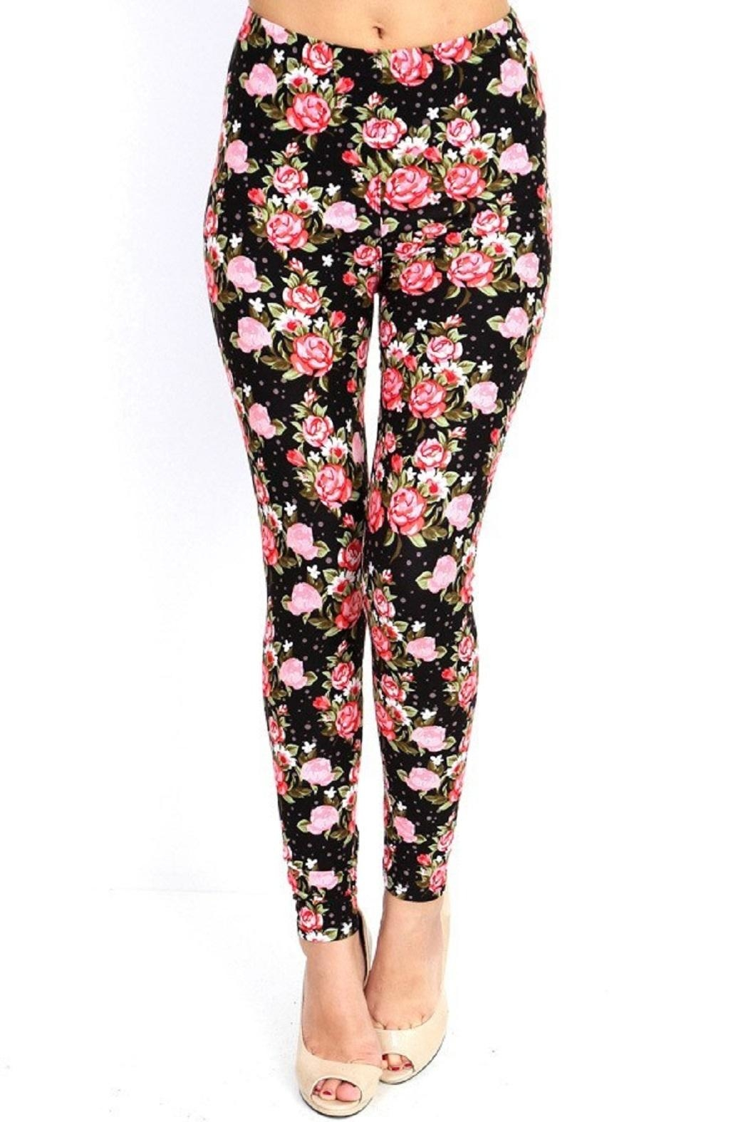 New Mix Flower Print Legging - Front Cropped Image
