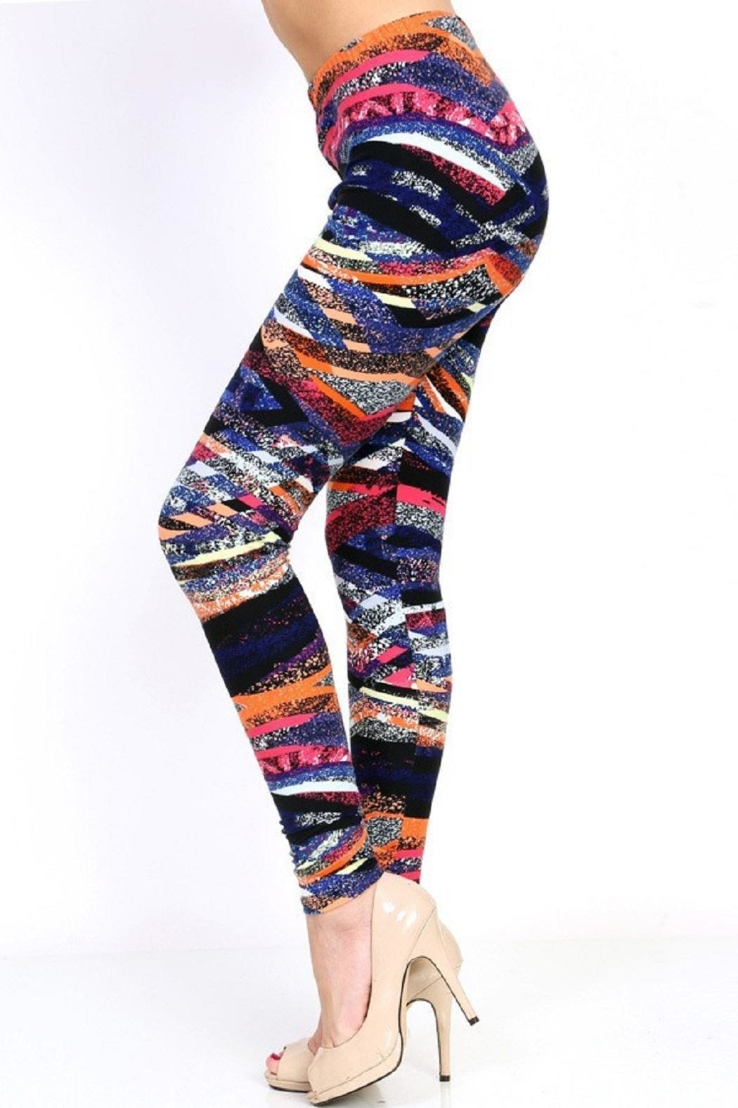 New Mix Fun Striped Leggings - Front Full Image