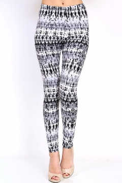 Shoptiques Product: Grey Tie Dyed Leggings