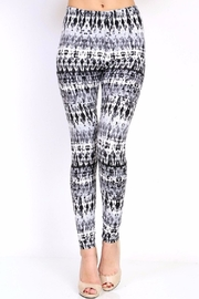 New Mix Grey Tie Dyed Leggings - Product Mini Image