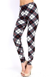 New Mix Houndstooth Plaid Print - Front full body
