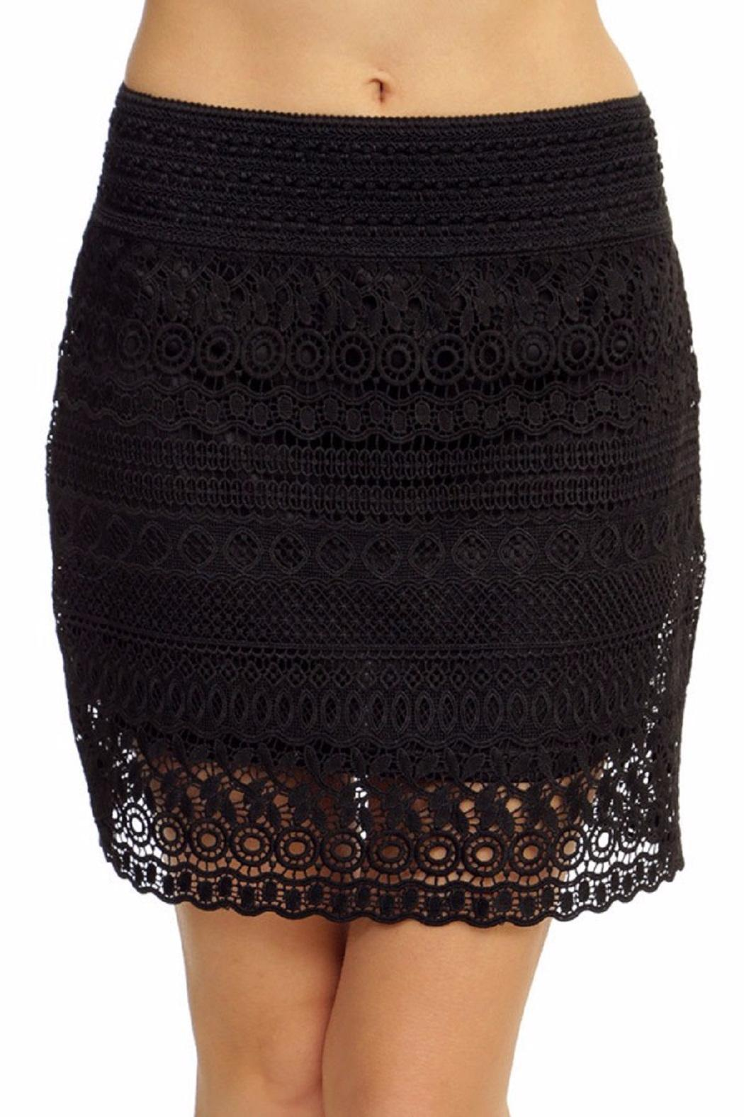 New Mix Lace Mini Skirt - Main Image
