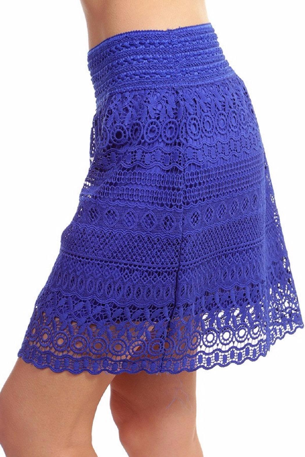 New Mix Lace Mini Skirt - Front Full Image