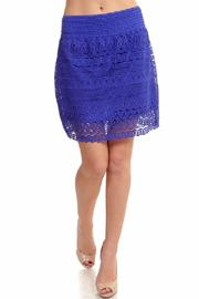 New Mix Lace Mini Skirt - Front cropped