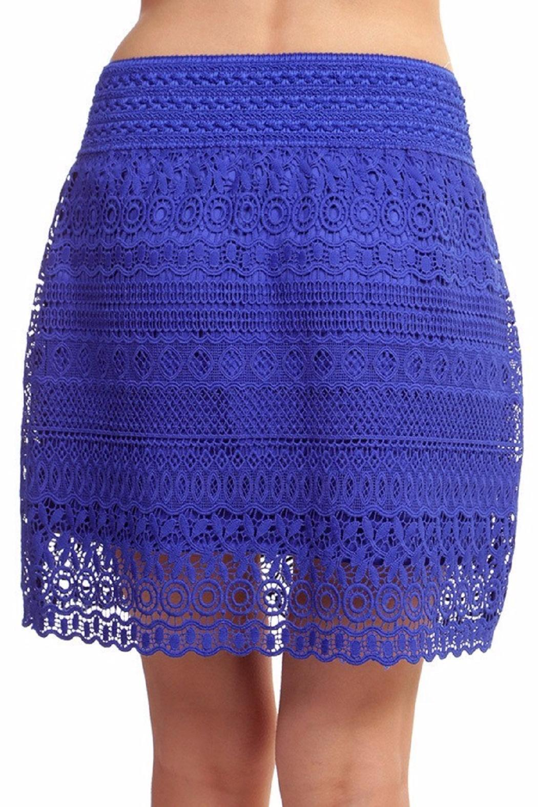 New Mix Lace Mini Skirt - Side Cropped Image