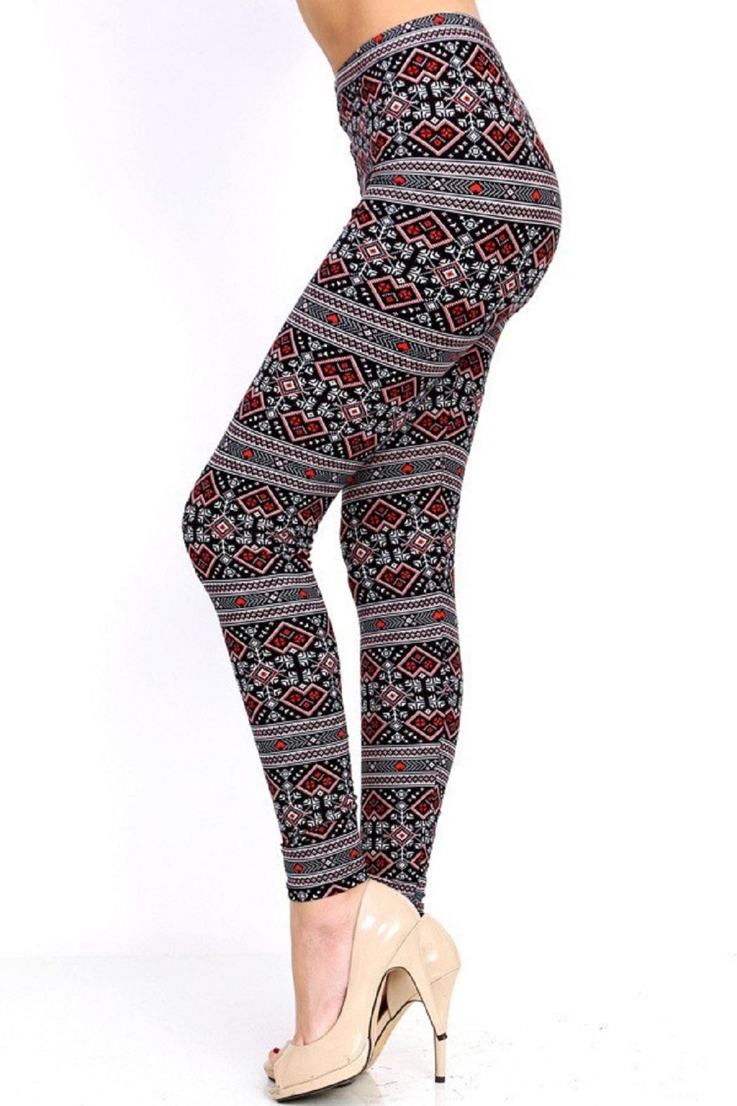 New Mix Love Me Leggings - Side Cropped Image