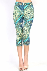 New Mix Paisley Capri Leggings - Product Mini Image
