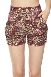 New Mix Paisley Print Harem-Short - Product Mini Image