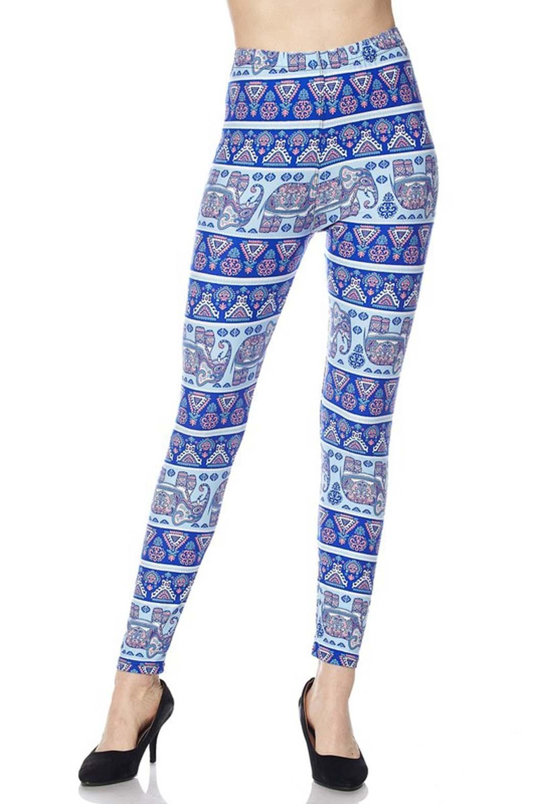 New Mix Plus-Elephant Playground Legging - Front Full Image
