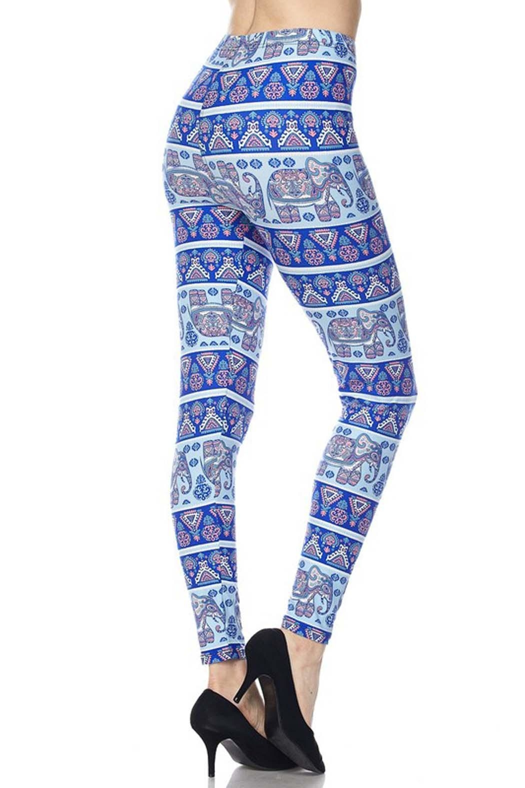 New Mix Plus-Elephant Playground Legging - Side Cropped Image