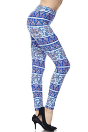 New Mix Plus-Elephant Playground Legging - Front cropped