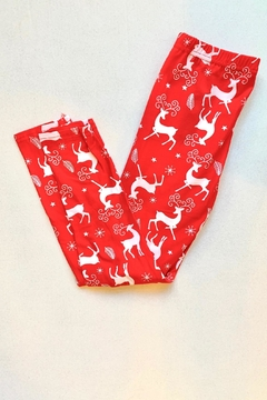 Shoptiques Product: Red Reindeer Leggings