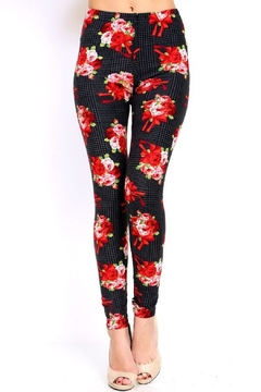 Shoptiques Product: Bouquet Print Leggings