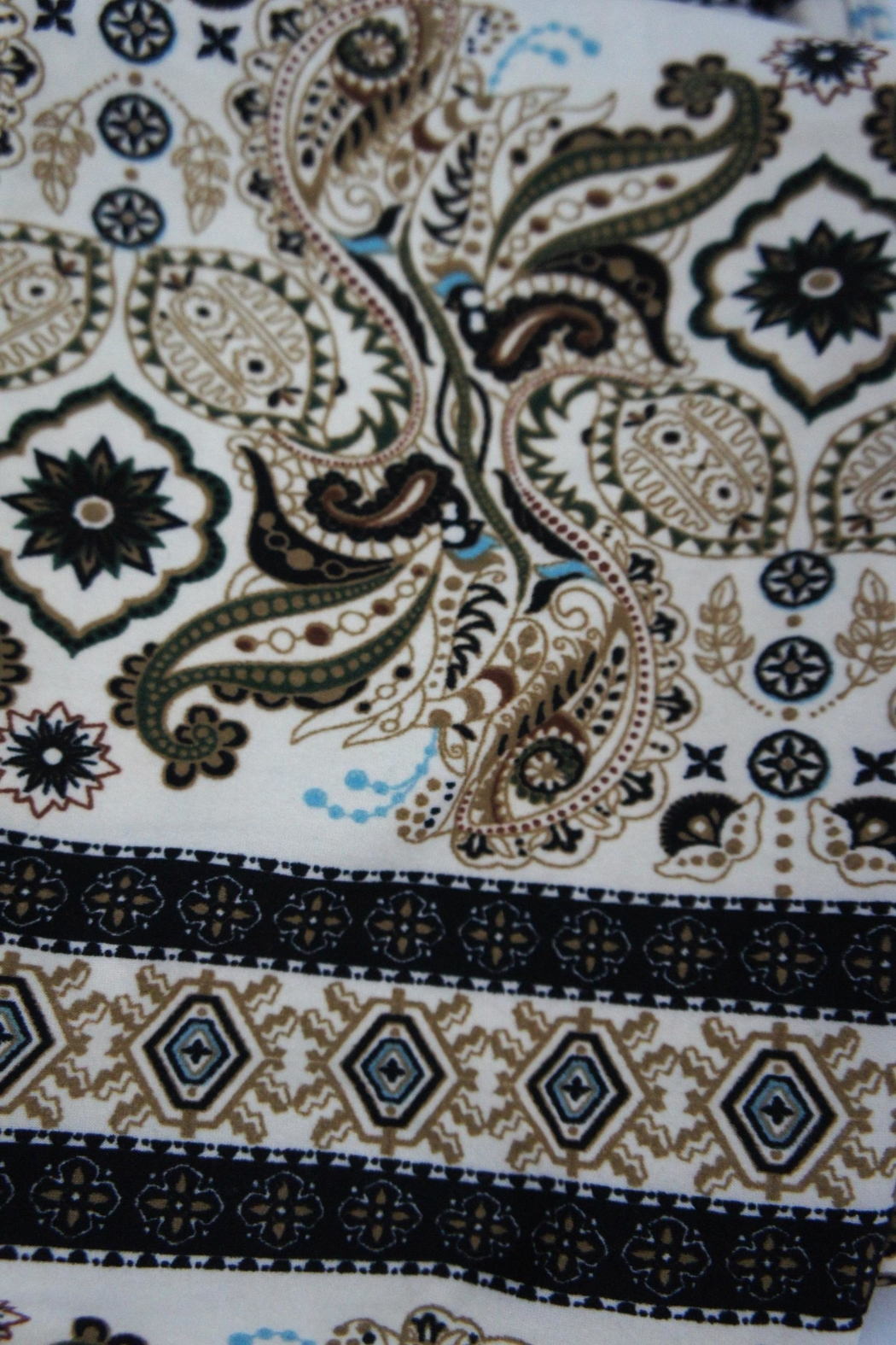 New Mix Scroll Paisley Leggings - Front Full Image
