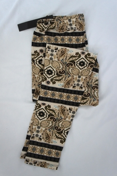 New Mix Scroll Paisley Leggings - Product List Image