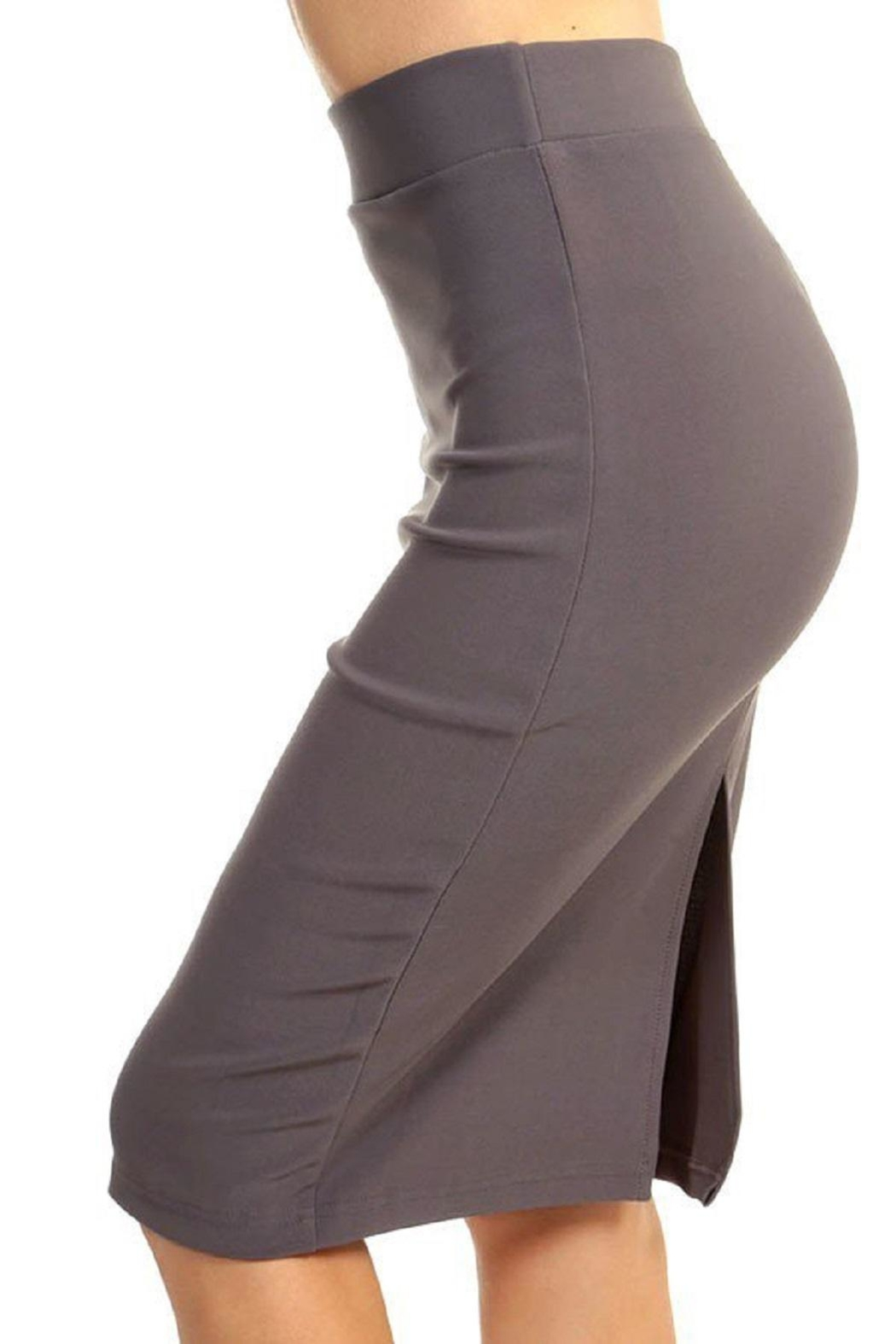 New Mix Scuba Pencil Skirt - Front Cropped Image