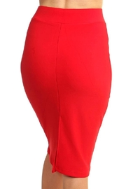 New Mix Scuba Pencil Skirt - Back cropped