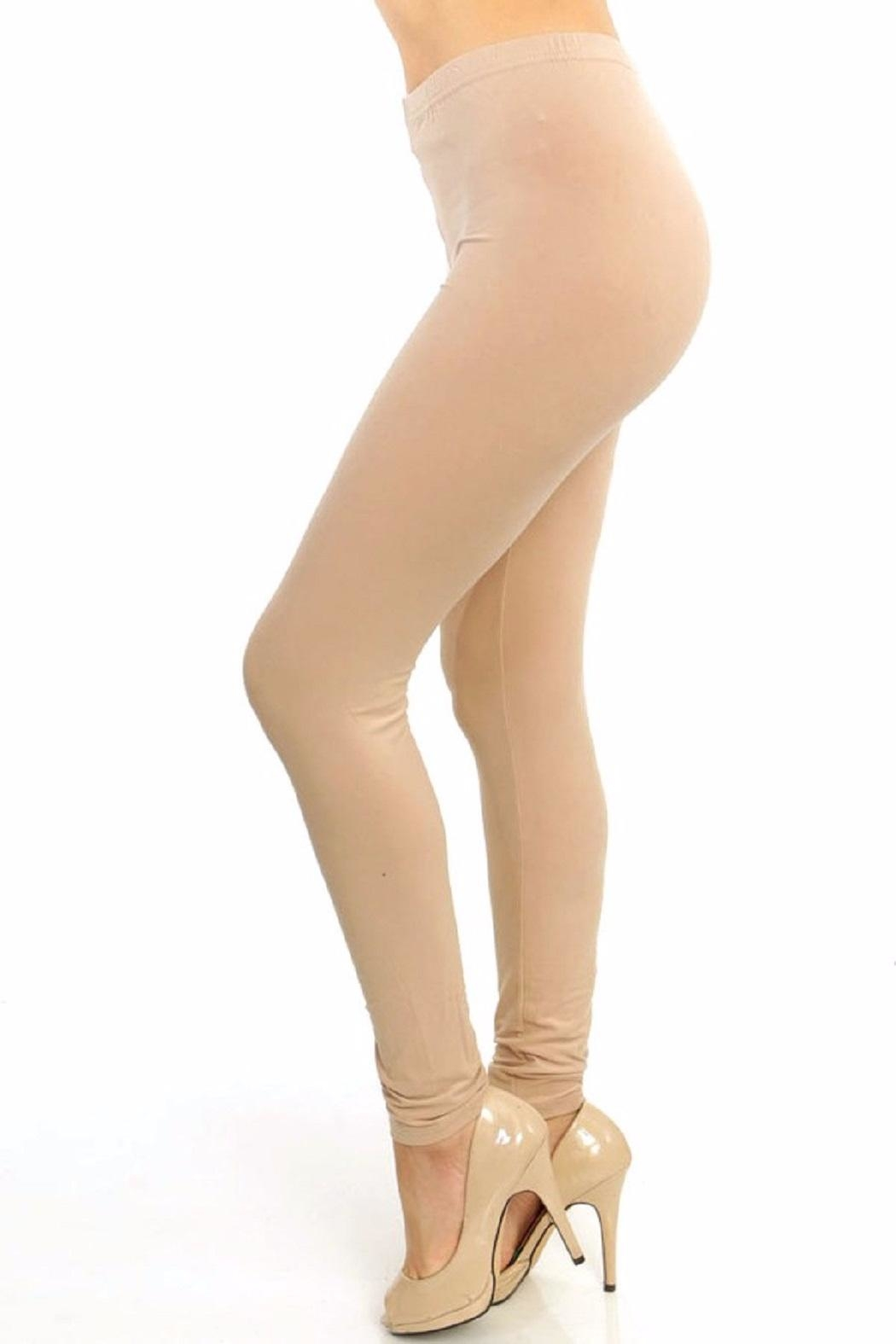 New Mix Solid Color Leggings - Main Image