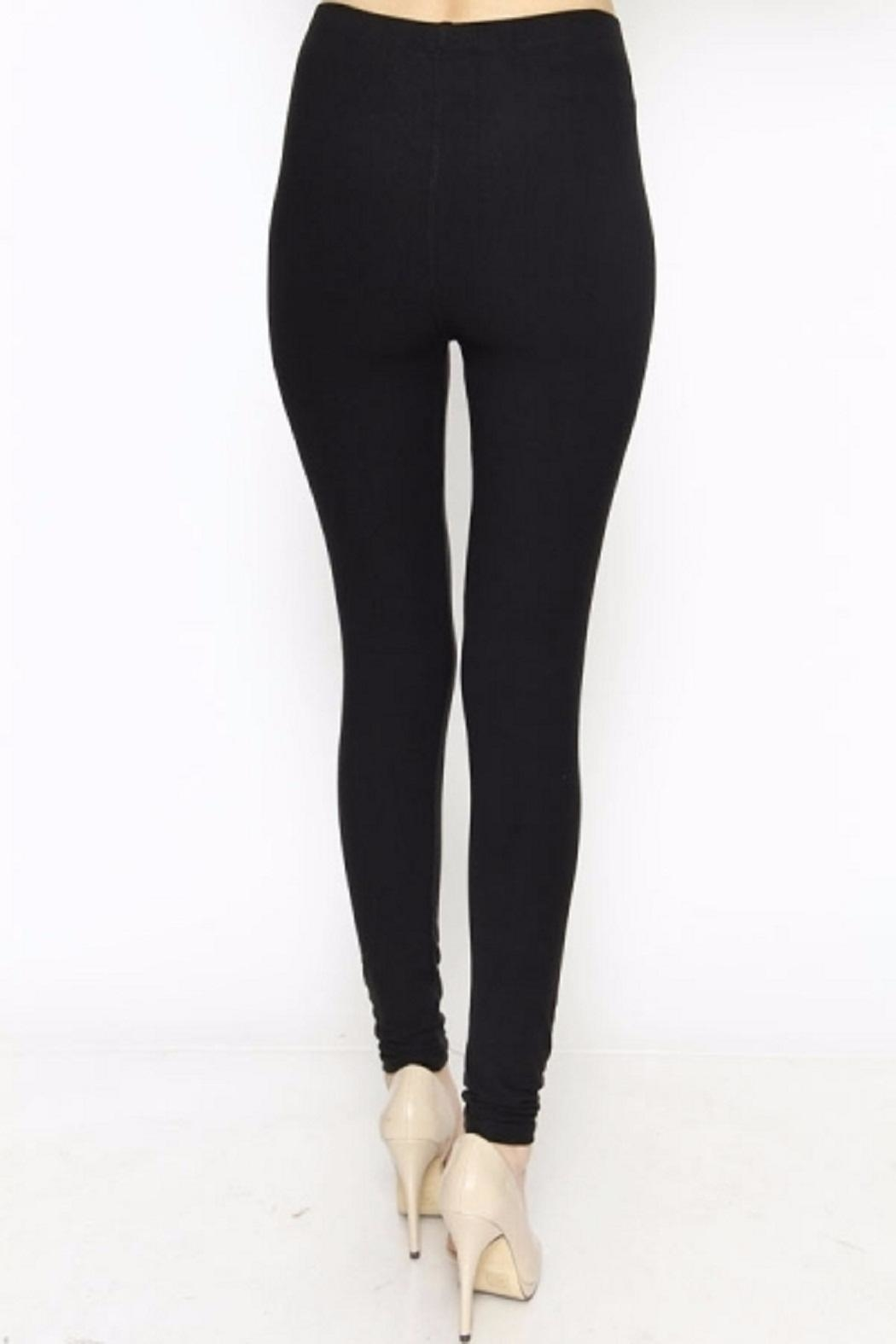 New Mix Solid Color Leggings - Back Cropped Image