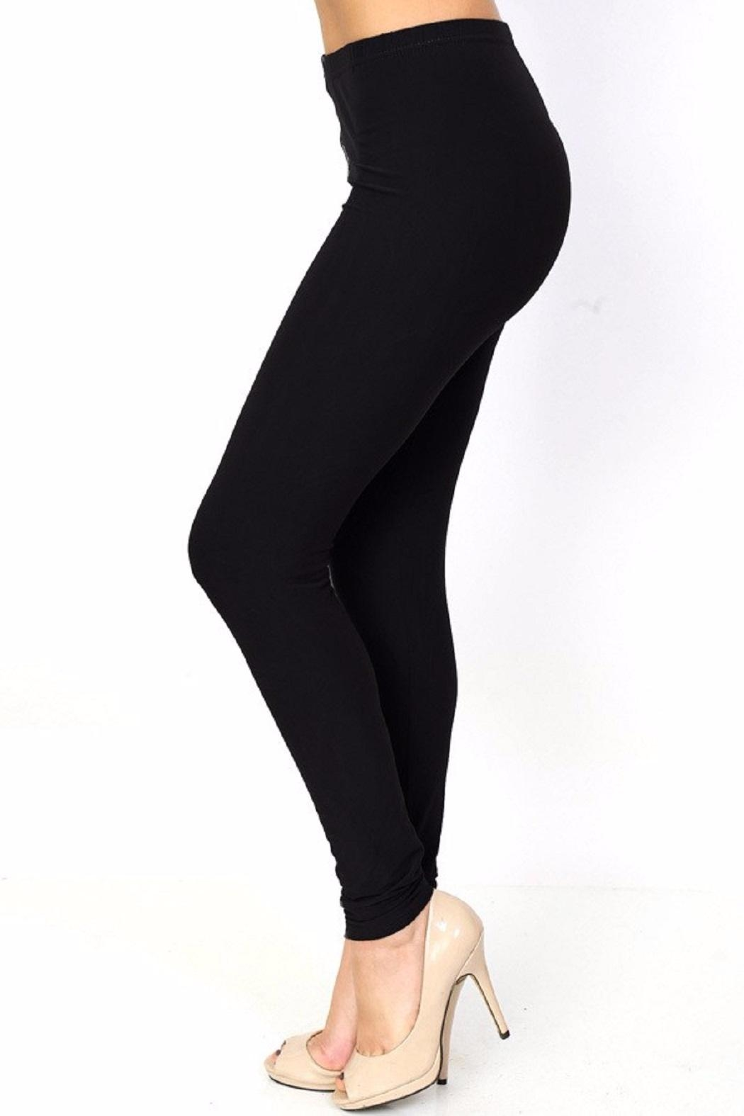 New Mix Solid Color Leggings - Front Full Image