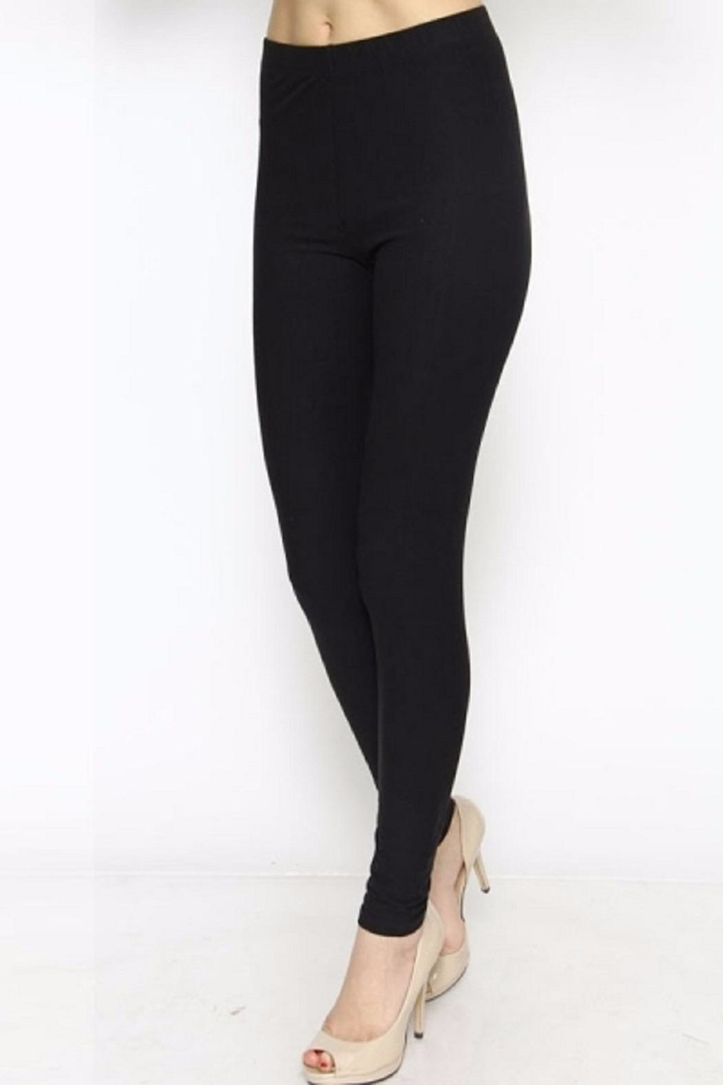 New Mix Solid Color Leggings - Side Cropped Image