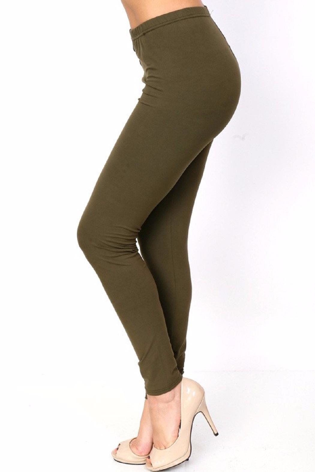 New Mix Solid Color Leggings - Front Cropped Image