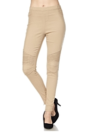 New Mix Tan Moto Jeggings - Product Mini Image