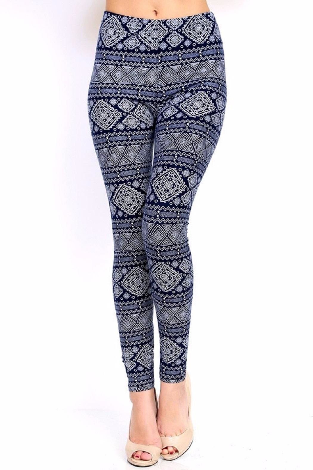 New Mix Tribal Print Leggings - Main Image