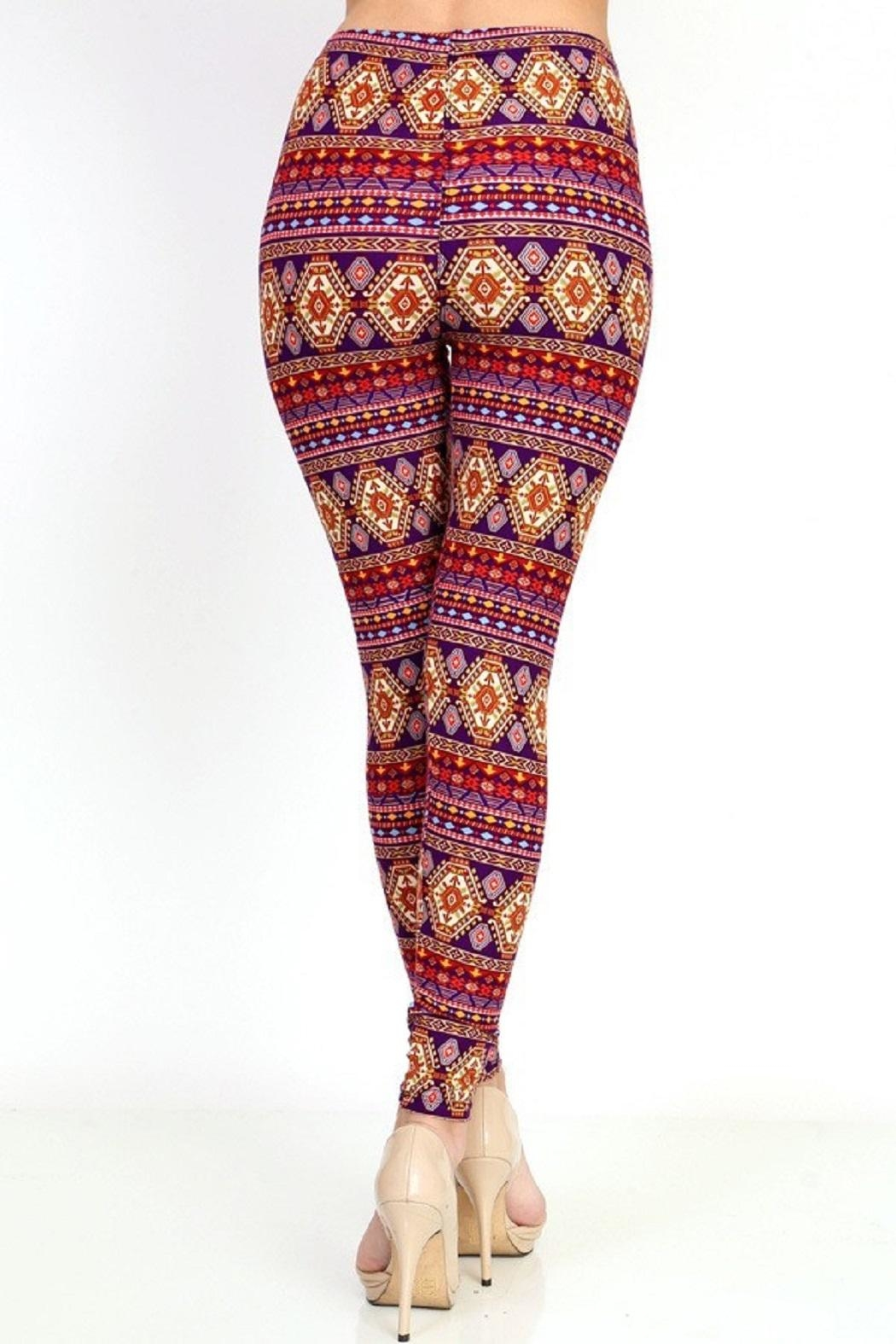 New Mix Tribal3 Multicolor Legging - Side Cropped Image