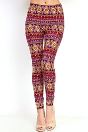 New Mix Tribal3 Multicolor Legging - Front cropped